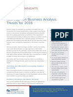 2016 Top 10 Business Analysis Trends
