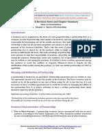 12 Accountancy Keynotes Ch01 Fundamentals of Partnership