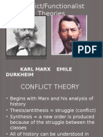 conflict theory and functional theory