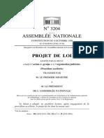 Projet de loi relatif à l'action de groupe et à l'organisation judiciaire