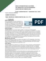 Laboratorio de Farmacologia, Practica 2 (Acido Acetil Salicilico)