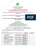CALL FOR PAPER (MAY–JUNE 2016 ISSUE) – INTERNATIONAL/NATIONAL JOURNALS