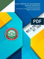 IIM Rohtak WAT-PI Preparation Kit