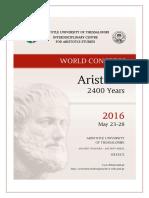 «Aristotle 2400 Years» World Congress Programme