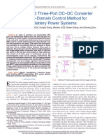 A Nonisolated Three-Port DC–DC Converter and Three-Domain Control Method for PV-Battery Power Systems