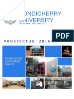 Pondichery University Prospectus2016-17