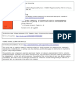Jüürgen Habermas. Towards a theory of communicative competence