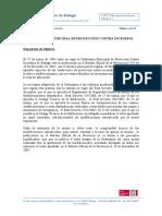 Ordenanza Municipal Contra Incendios Málaga