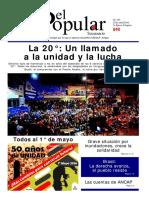 El Popular 345 Órgano de Prensa Oficial del Partido Comunista de Uruguay