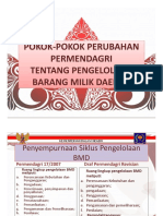 Pokok-pokok Perubahan Permendagri
