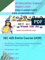 SEC 420 Aid Education Expert/sec420aidexpert.com