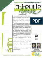 Feuille Verte n°216 - Mai 2016
