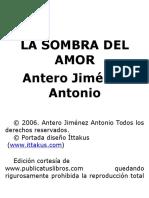 Antero Jimenez Antonio - La sombra del amor - v1.0.rtf