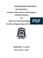 2014-15 TE Electrical Teacher and Examinars Manual (CGPA)