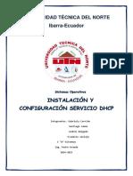Configuracion Servicio DHCP