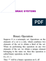 4 Algebraic System