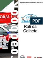 Roadbook - Rali Da Calheta 2010