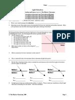 worksheet on refraction