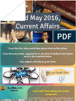 2 May 2016 Current Affair for Competition Exams