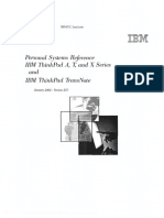 IBM Think Pad a, T, And X Series TransNote
