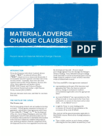 Material Adverse Change Clauses