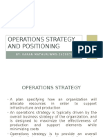 Operations Strategy and Positioning