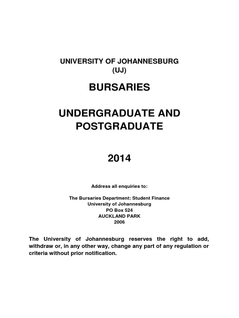 uj nsfas application forms 2014 second semester