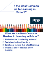 Barriers to Education '16