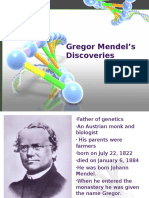 Gregor Mendel's Discoveries and Mendelian Principles