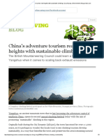 China's adventure tourism reaches new heights with sustainable climbing