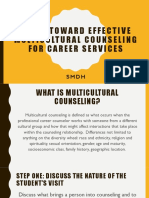 Steps Toward Effective Multicultural Counseling for Career Services