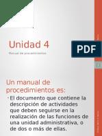 Unidad 4 c Manual de Procedimientos