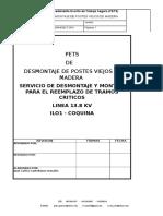 Procedimiento de Retiro Del Suelo de Postes Viejos de La Linea (1) (1) (1)