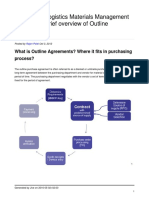 Brief Overview of Outline Agreements