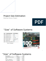 Project Size Estimation