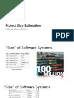 Project Size Estimation