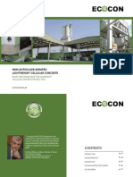 ECOCON plants for production non-aerated lightweight cellular concrete products