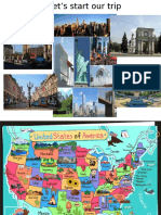 Touristic places in the USA, the UK and Moldova
