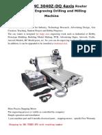 CNC3040Z-DQ 4 Axis Manual Description