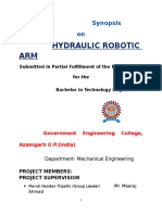 Synopsis on hydraulic arm