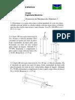 Lista 2 (2/2009) Mecânica dos Materiais 2