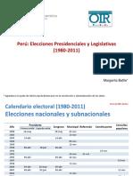 Elecciones presidenciales y legistativas 1980-2011ciales y Legistativas 1980-2011 (Univ. Salamanca)