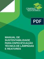 Manual de Sustentabilidade Para Especificacao Tecnica de Lampadas e Reatores