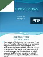 Nyeri Post Operasi