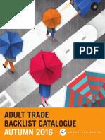 Chronicle Books UK Autumn 2016 Adult Trade Backlist Catalog