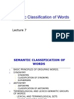 Pr7 Semantic Classification of Words