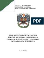 REGLAMENTO DE EVALUACIÓN DE JEFES Y OFICIALES