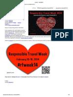 Responsible Travel Week 2014