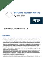 Pershing Square 2016 European Investor Meeting