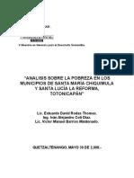 Análisis de La Pobreza en Los Municipios de Totonicapán